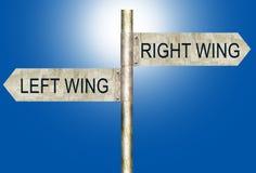Rechtes Wing Left Wing Road Signs Stockfotografie