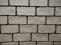 Rechthoek bruine bakstenen muur Achtergrond behang De bouw Stock Afbeelding