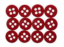 Rechthoek van rode knopen Stock Foto's
