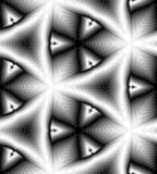 Rechthoeken die zacht van Licht aan Donkere Tonen flikkeren en naar het Centrum de verminderen leiden tot de illusie van diepte e Royalty-vrije Stock Fotografie