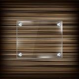 Rechthoekig glaskader op houten achtergrond Royalty-vrije Stock Afbeeldingen