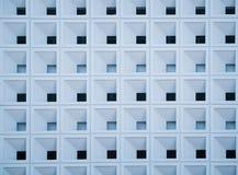 Rechthoekig patroon van de ruimte op het muurgebouw Stock Afbeeldingen