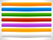 Rechthoekige knopen in verscheidene kleuren Knoopmarkering, etiketvormen Royalty-vrije Stock Foto's