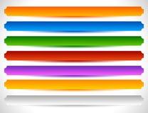 Rechthoekige knopen in verscheidene kleuren Knoopmarkering, etiketvormen Royalty-vrije Stock Foto
