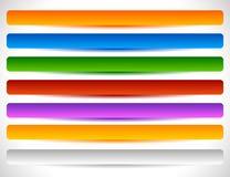 Rechthoekige knopen in verscheidene kleuren Knoopmarkering, etiketvormen Royalty-vrije Stock Afbeelding