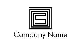 Rechthoeks embleem Stock Afbeelding