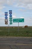 Rechts. signage 66 in Texas Royalty-vrije Stock Afbeeldingen