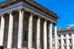 Rechts van British Museum Londen royalty-vrije stock afbeeldingen