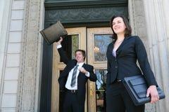 Rechtsanwälte am Gericht lizenzfreies stockbild