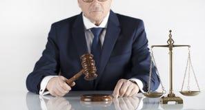 Rechtsanwalt am Gesetzeskonzept Platz für Typografie Lizenzfreie Stockfotos