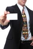 Rechtsanwalt mit Visitenkarte Stockfoto