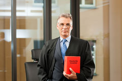 Rechtsanwalt mit Zivilrechtcode Stockfotos