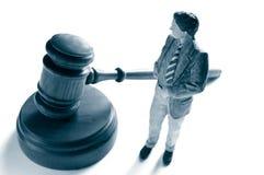 Rechtsanwalt und Hammer Stockfoto