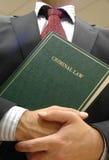 Rechtsanwaltholdingbuch Stockbild