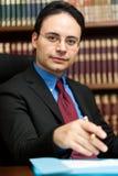 Rechtsanwaltportrait Stockfotografie