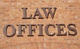 Rechtsanwaltsbüro-Zeichen Stockfoto