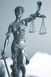 Rechtsanwaltsbürostatue Themis Stockfoto