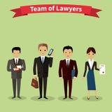 Rechtsanwälte Team People Group Flat Style Lizenzfreie Stockfotografie