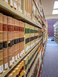 Rechtsbibliothekstapel Stockfotografie