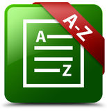Rechtschreibüberprüfungs-Dokumentengrün-Quadratknopf Lizenzfreie Stockfotografie
