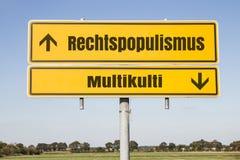 Rechtspopulismus up Stock Photo