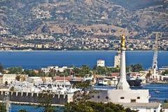 Rechtstreeks van Messina Sicilië-Italië Stock Afbeelding