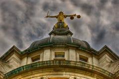Rechtvaardigheid in de Oude Vestingmuur Royalty-vrije Stock Foto