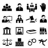 Rechtvaardigheid en wettelijke pictogrammen Stock Afbeelding
