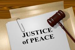 Rechtvaardigheid van Vredesconcept stock illustratie