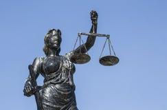 Rechtvaardigheidsbeeldhouwwerk Stock Foto