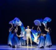 ` Recién nacido-azul de la danza del ` s de onda-Huang Mingliang del mar ningún ` del refugio fotografía de archivo