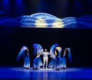 ` Recién nacido-azul de la danza del ` s de onda-Huang Mingliang del mar ningún ` del refugio fotos de archivo