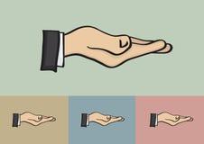 Recibiendo el gesto de mano aislado en diverso fondo Foto de archivo libre de regalías