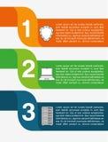 recibimiento de diseño infographic Imagenes de archivo