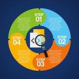 recibimiento de diseño infographic Imágenes de archivo libres de regalías