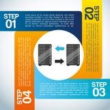 recibimiento de diseño infographic Foto de archivo libre de regalías