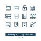 Recibimiento de iconos del software de la facturación Imagen de archivo