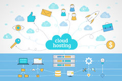 Recibimiento plano de la nube Imagenes de archivo