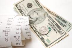 Recibo de dinheiro Imagem de Stock Royalty Free