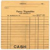 Recibo de las ventas de la vendimia a partir de los años 20 Fotos de archivo libres de regalías