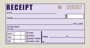 Recibo financiero Imagen de archivo libre de regalías