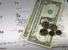 Recibos con las cuentas de dólar Imagen de archivo
