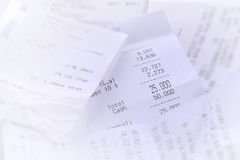 Recibos das vendas Imagem de Stock