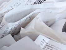 Recibos para el impuesto sobre la renta imagen de archivo libre de regalías