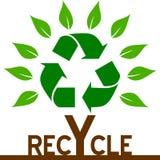 Recicl a árvore ilustração stock