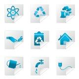 Recicl ícones ilustração royalty free