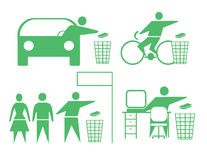 Recicl ícones Foto de Stock