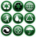 Recicl ícones Fotografia de Stock Royalty Free