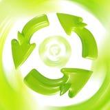 Recicl assinam dentro o movimento Imagem de Stock Royalty Free