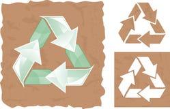 Recicl assinam dentro o vetor Fotografia de Stock Royalty Free